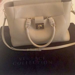 Versace Collection Leather EastWest Tote Crossbody